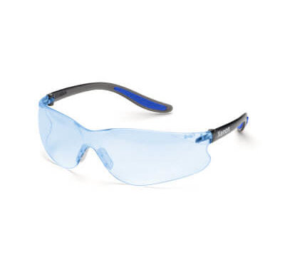 blue shooting glasses