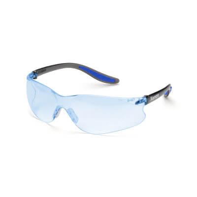 blue shooting glasses