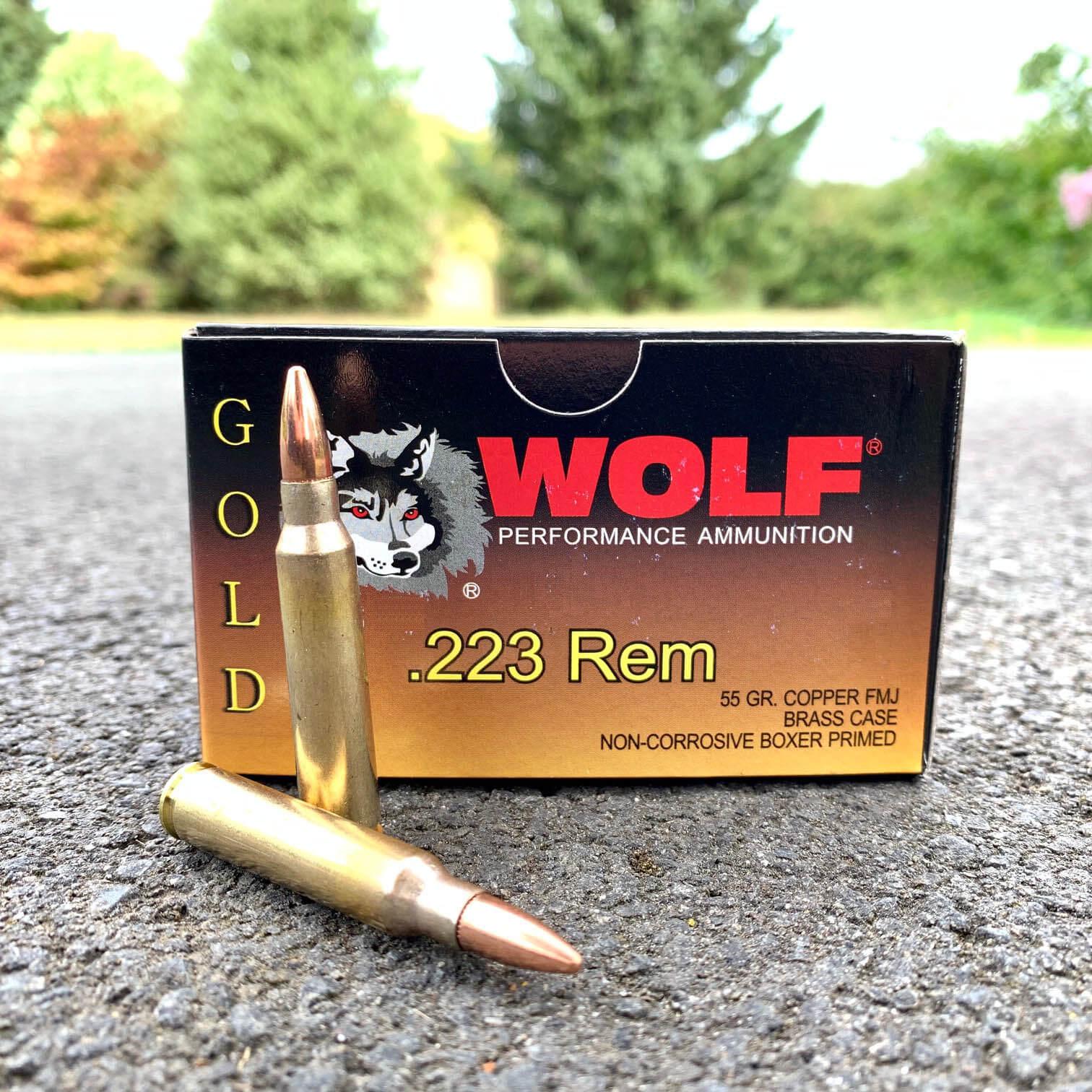 223 Rem 55gr Full Metal Jacket (Wolf Gold)