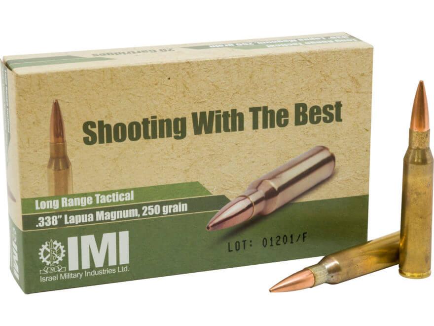 338 Lapua Magnum 250 Grain Sierra MatchKing HPBT (IMI Ammunition)