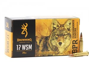 Browning BPR 17 Winchester Super Magnum 25 Grain Poly Tip