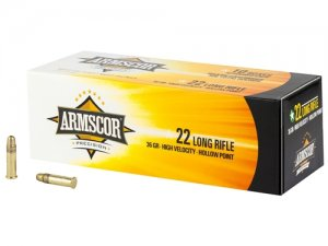 Armscor Precision 22 Long Rifle Ammo 36 Grain High Velocity Hollow Point