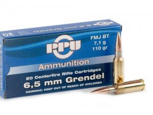 Prvi Partizan 6.5 Grendel Ammo 110 Grain Full Metal Jacket Boat Tail